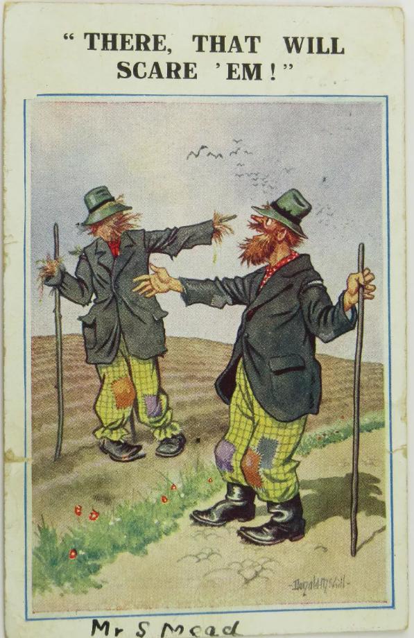 Tramp Scarecrow Postcard (2)