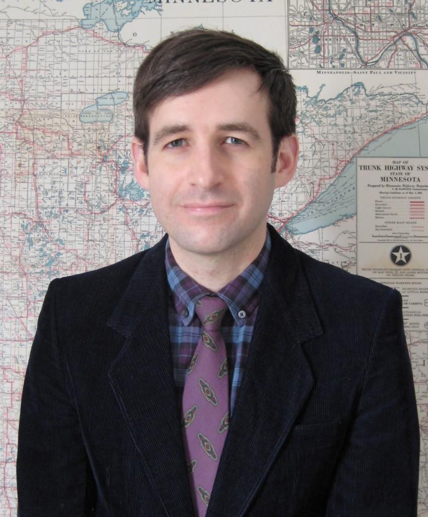 Portrait with Minnesota map