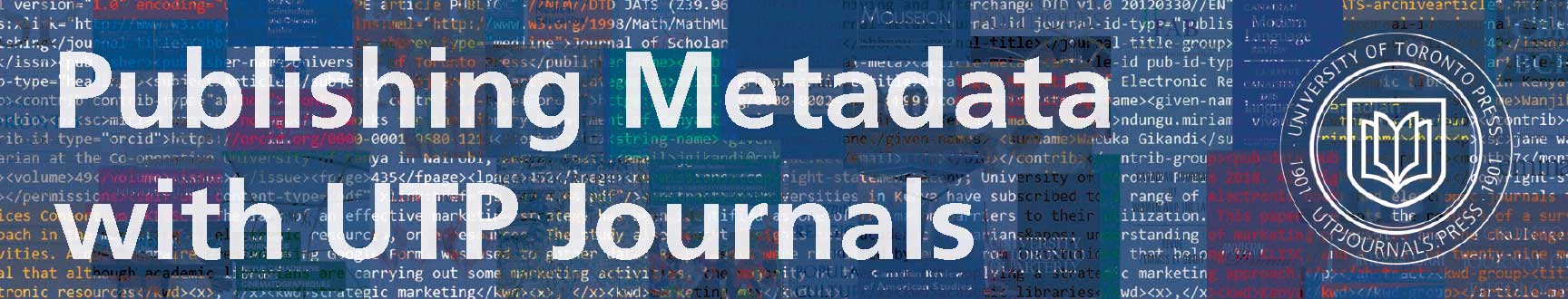 XML Code over Journal Covers