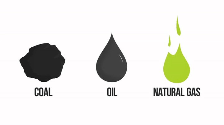 Icons COAL OIL and NATURAL GAS