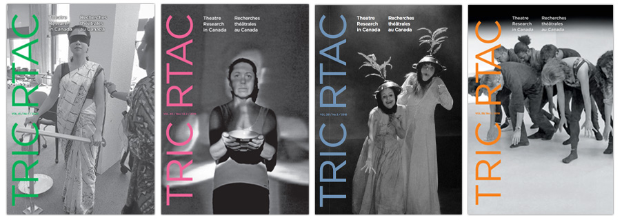 Four Theatre Research in Canada covers.